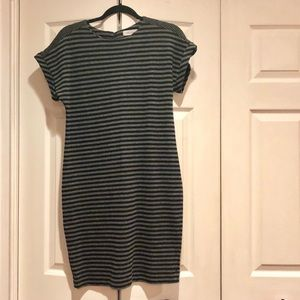 Calvin Klein striped cotton dress